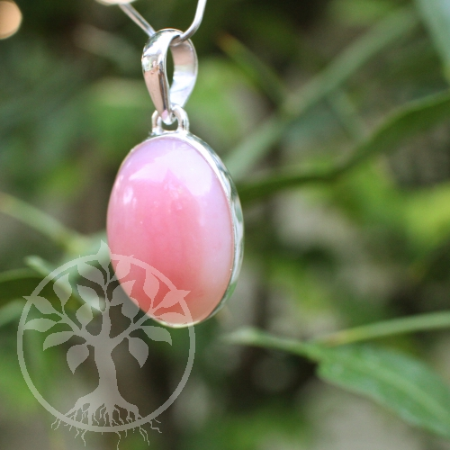 Pink Opal Anhänger Silber 925 Opalanhänger Pink AA aus den Anden