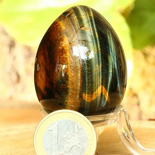 Tiger Eye Golden Blue Egg 45 mm