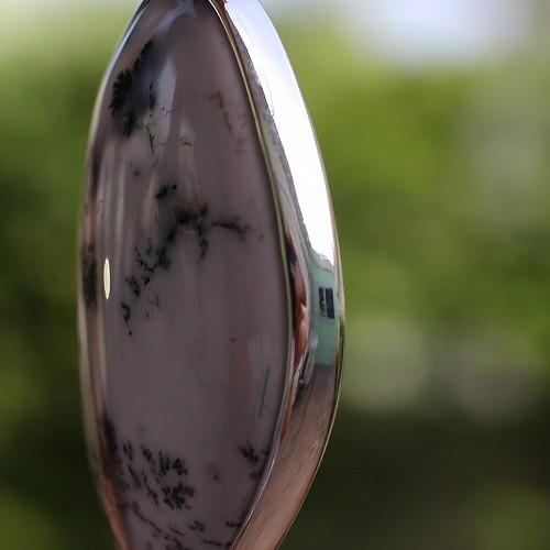 Dendriten-Opal AAA Silberanhänger 925er Sterlingsilber Anhänger  47mm
