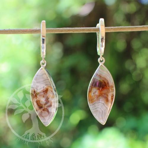 Achat Ohrringe 47 mm Silber Ohrringe Echt Silber925 Ohrhänger