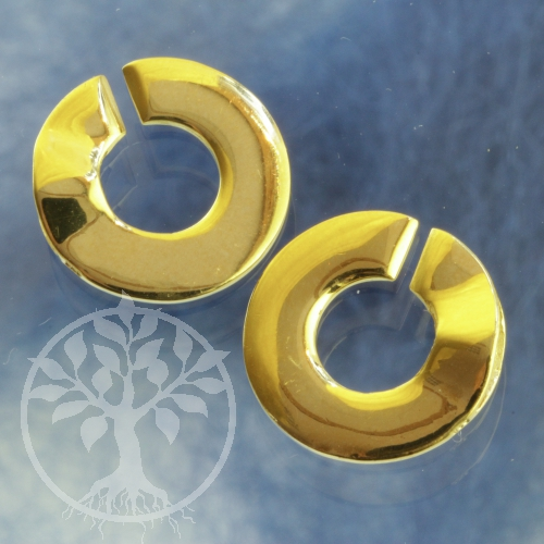 Clasp Ring-Ring Goldplated Shiny 12 mm Sterlingsilver