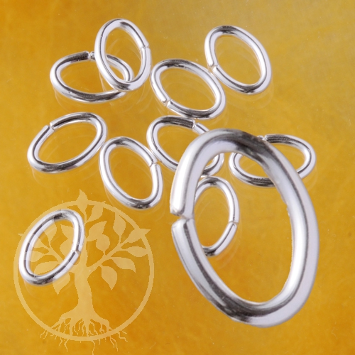 Oval Jump Ring Open 8x6x0.9mm