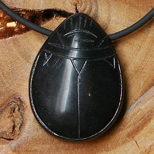 Onyx schwarzer Scarabäus Anhänger / Schlüsselanhänger
