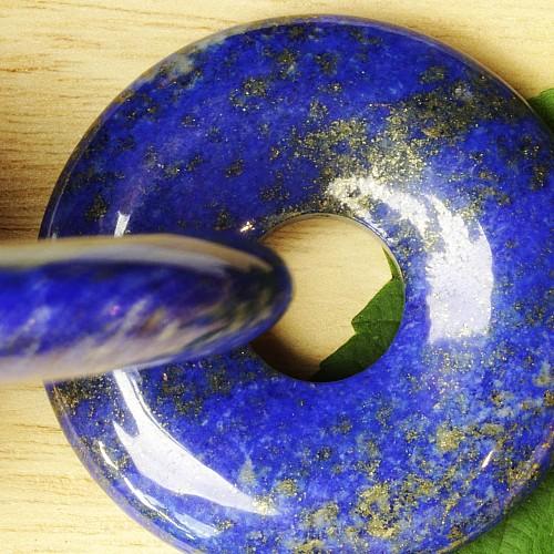 Lapislazuli Donut 50 mm AAA Lapis Anhänger Beste Qualität