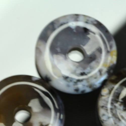Opal Dendriten A Donut 30mm Donutanhänger Dendritenopal
