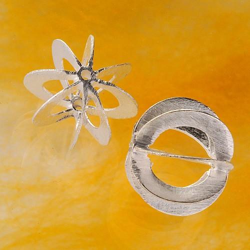 Silberperle Speichen 925er Silber Schmuckperle 15,5mm