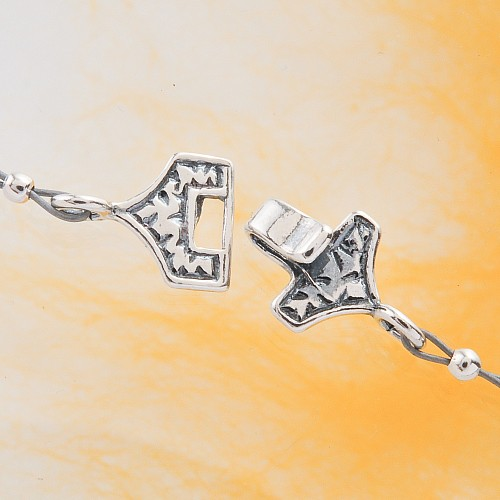 Hook Clasp Sterling Silver oxi 17/24mm