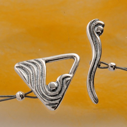 Toogle Clasp Triangel Sterling Silver 13mm