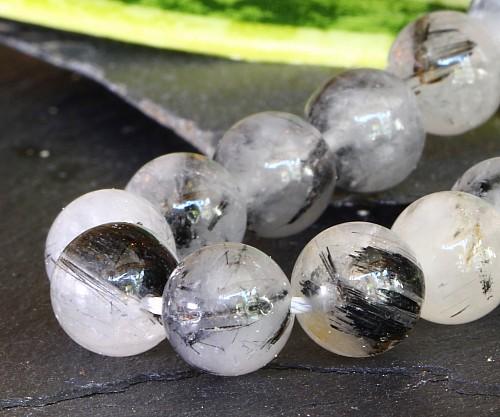 Turmalin Quarz Perlen Kugel  10mm A