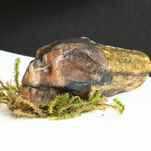 Chiastolith Totenkopfschädel 24/25/55 mm