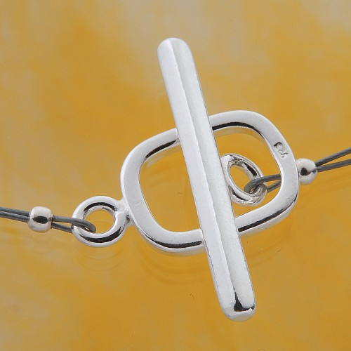Toogle Clasp Rectangle Sterling Silver 925 20mm