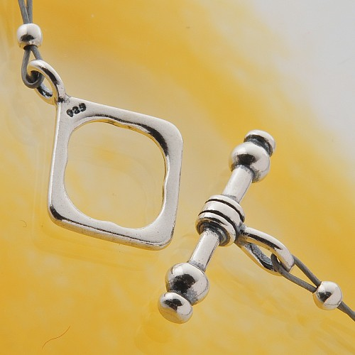 Toogle Clasp Square Sterling Silver 925 17mm