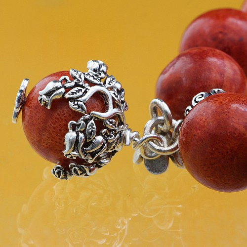 Bead Caps Perlenkappen Wellen 925 Silber 12x17 mm für 10-12mm Perlen