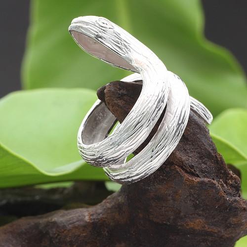 Silberring Schlange Schlangen Ring Snake 25x38mm 925er Silber Fingerring