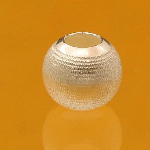 Silver beads matt 5mm 2.2mm Hole Sterling Silver 925