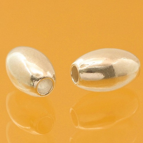 Ovale sterling silver 925 beads  8x5mm