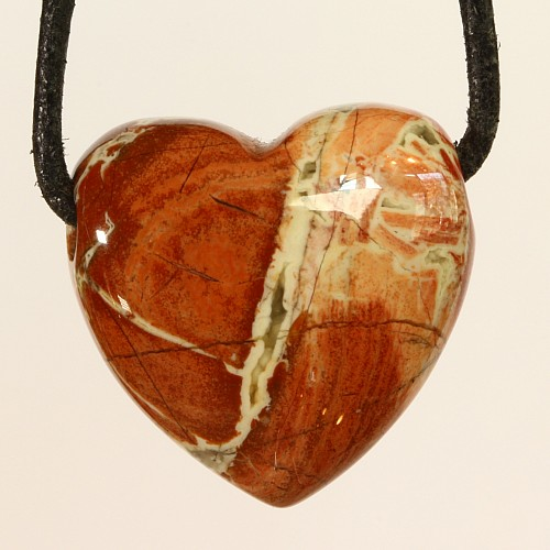 Red Jasper Brecciated Jasper Heart Pendant 20x20x10mm
