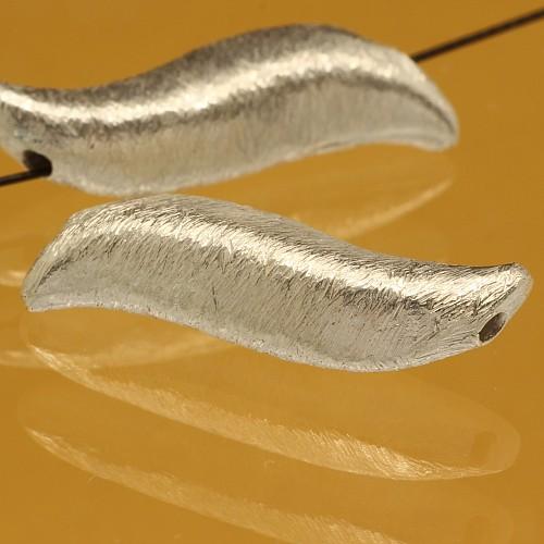 Geschwungene Silberperle Jazz Silber 925 6x22mm
