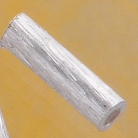 Sterling Silver tube bead brushed 5mm