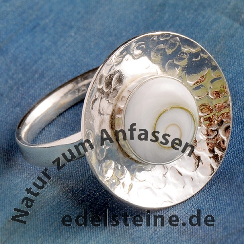 Silberring Shiva Auge 925er Sterlingsilber Größe verstellbar//open size
