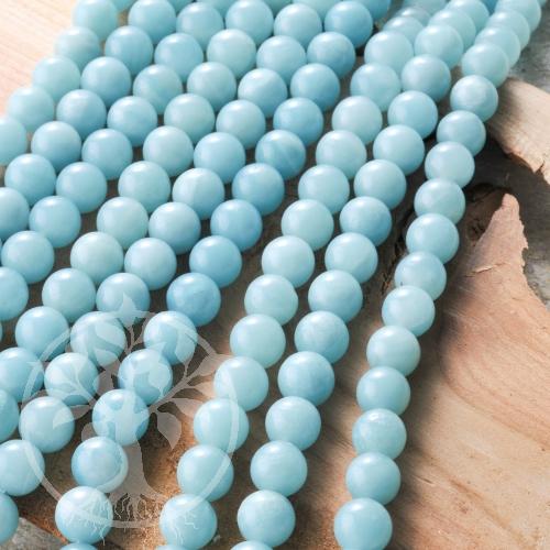 Amazonit Kugelperlen China blau grün AA 6mm/40cm