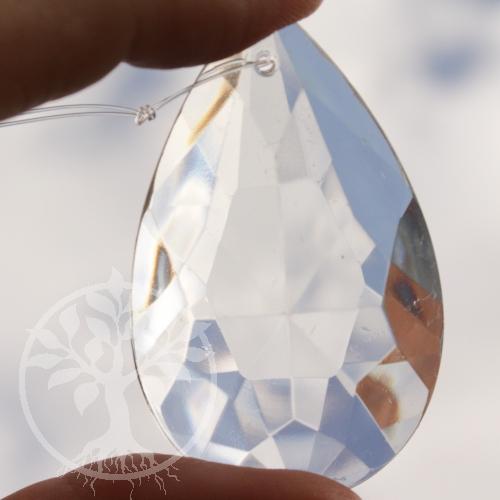 Feng Shui Kristall flacher Tropfen Mitte 63 mm
