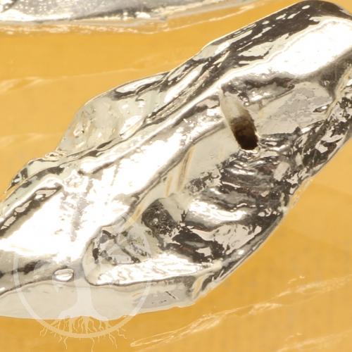 Silberperle Nugget Sterling Silber 925 30mm Steinperle Silberüberzug
