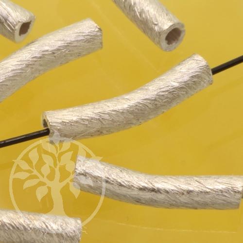 Perlen Silber Röhrchen gebogen 925 2x11mm Winkelperle Rohr