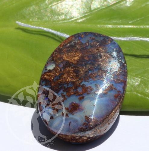 Boulder Opal in Muttergestein Opal in Matrix Anhänger 21x30mm