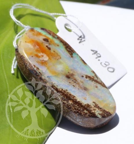 Boulder Opal in Muttergestein Opal in Matrix Anhänger 21x31mm