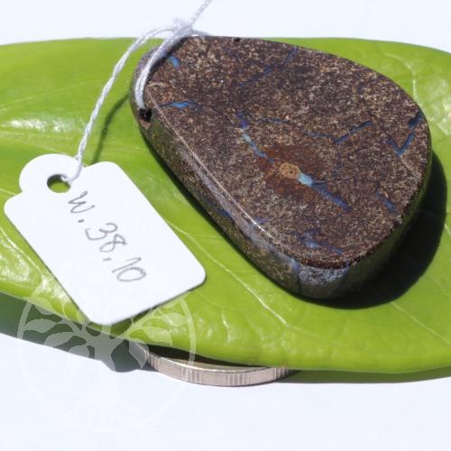Boulder Opal in Muttergestein Opal in Matrix Anhänger 31x40mm