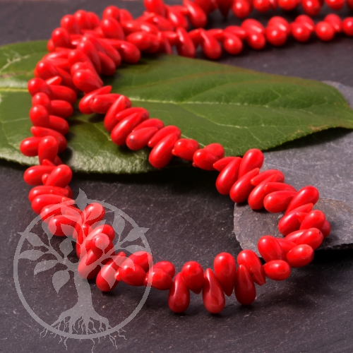 Coral Beads Drop 10x4mm