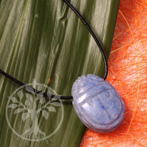 Blauquarz Scarabäus Anhänger / Schlüsselanhänger