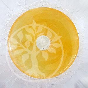 Orangen-Calcit Donut 20 mm