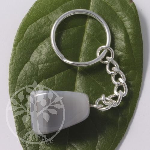 Achat Schlüsselanhänger Edelstein mit Schlüsselring