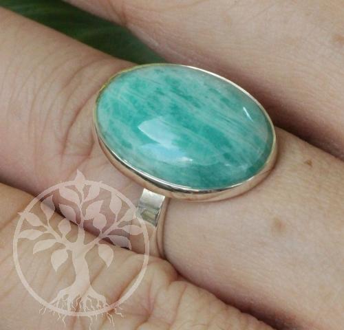 Amazonit A Ring Silber 925 Grösse 51 20x23cm