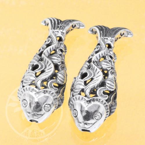 Silberperle Fisch Tulip Silber 925 45mm