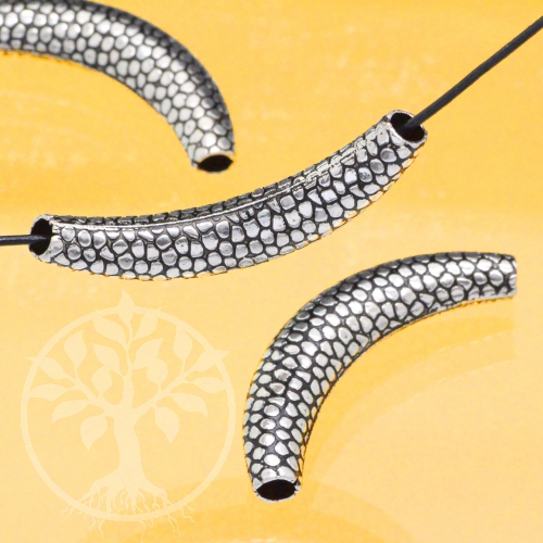 Silberperle Schlangenhaut Armbandperle 925 45x9mm