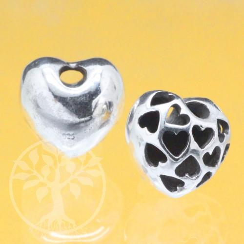 Silverbead Heart Sterling Silver 925 13mm