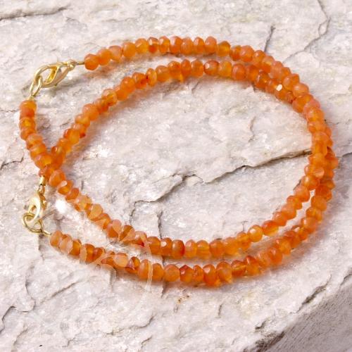 Karneolarmband facettierte Perlen Karneol Armband