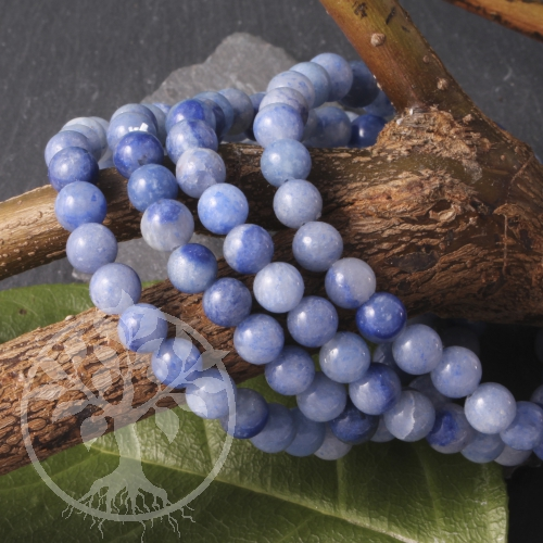 Blauquarz Edelstein-Armband hellblau