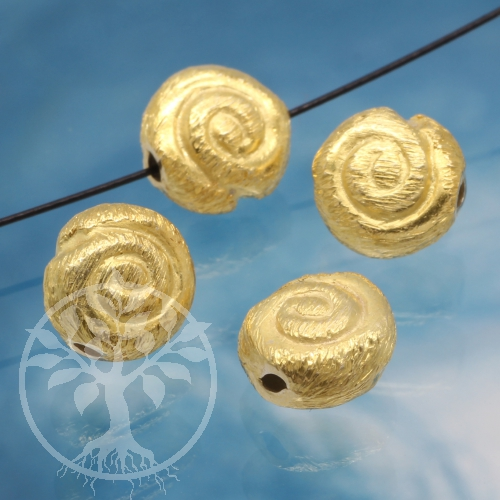 Silver Bead gold-plated small Snail Shell Bead Silver 925 gold plated 8mm
