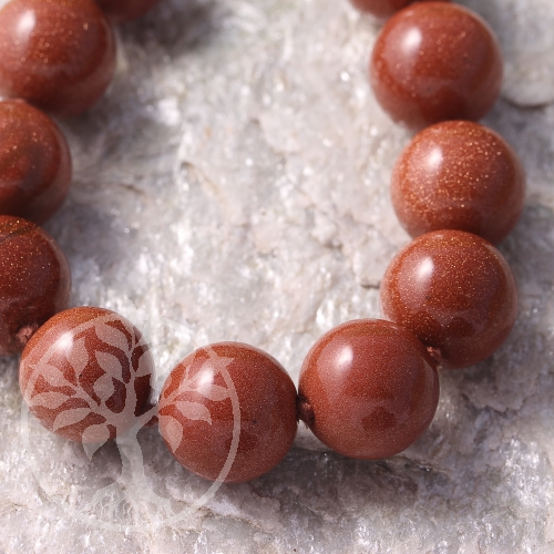 Goldstone Neklace 45cm/16mm Beads
