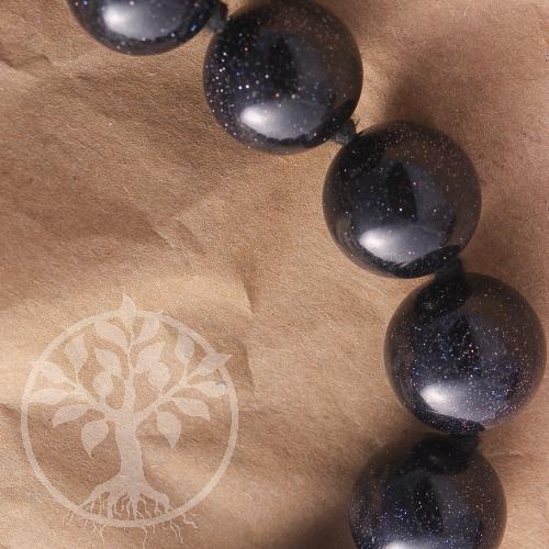 Blaufluss Kugelkette 45cm/16mm Perlen