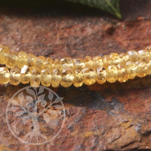 Saphir Halskette gelb