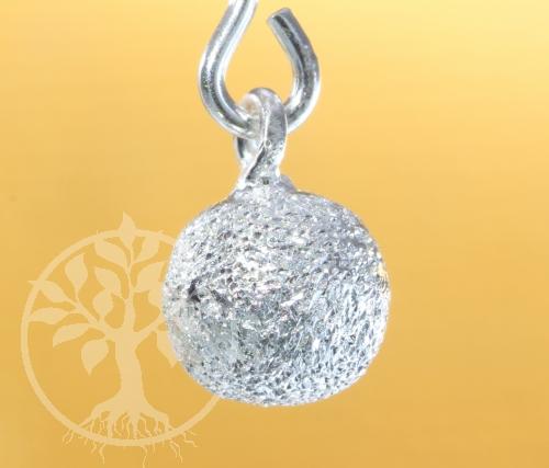 Kugelanhänger Silber 925 diamantiert Ohrringe 7x5mm