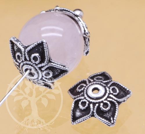 Perlenkappen Silber 925 9x3mm