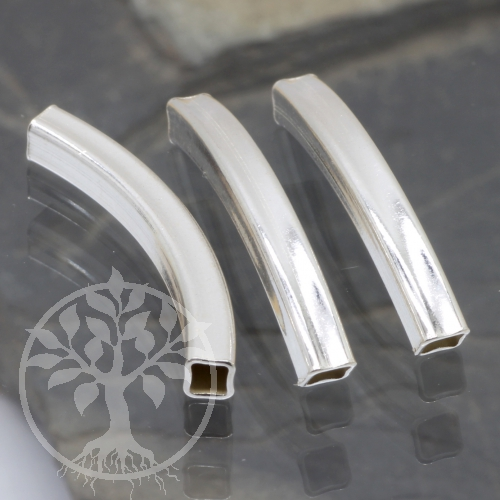 Silberbogen quadratisch Silber Perle 925 25x3mm