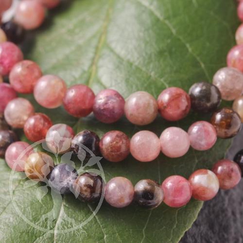Turmalin Edelstein-Armband Rote Perlen 5-6mm