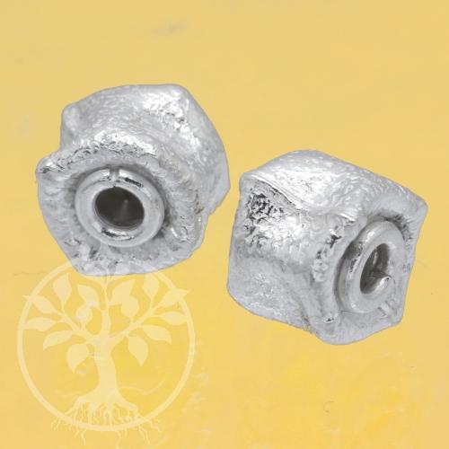 Silver Bead Wheel Sterlingsilver 925 8x11 mm